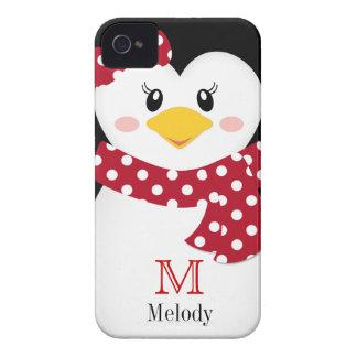 Cute Winter Penguin iPhone Case