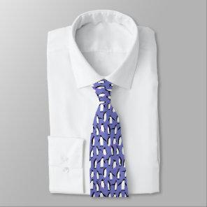 Cute winter penguin pattern tie