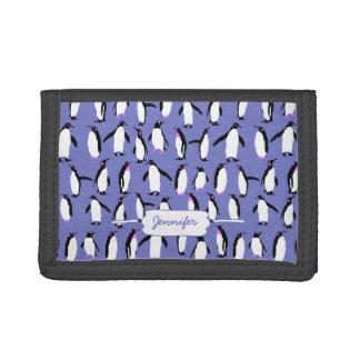 Cute winter penguin pattern tri-fold wallet