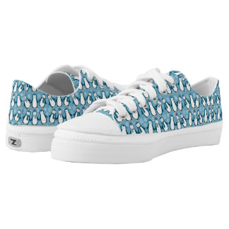 Cute Winter Penguins Design Low Tops