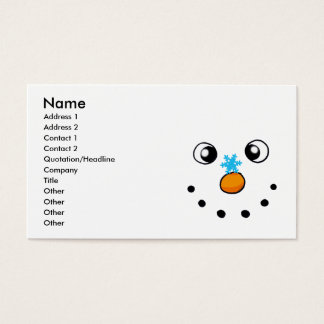 cute winter snowman and snowflake business card