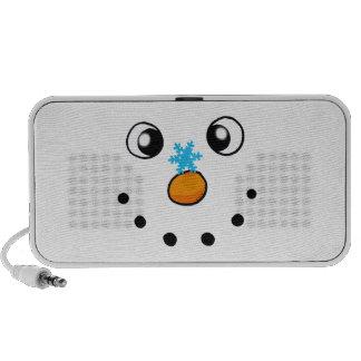cute winter snowman and snowflake speakers