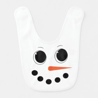 Cute Winter Snowman Baby Bib