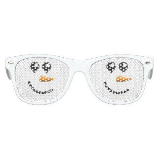 Cute Winter Snowman Face Kids Sunglasses