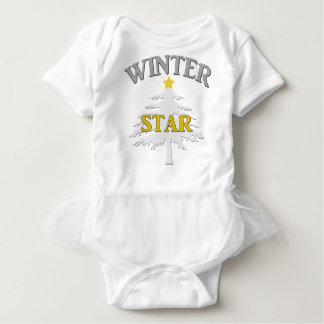 """Cute """"Winter Star"""" design for kids and babies. Baby Bodysuit"""
