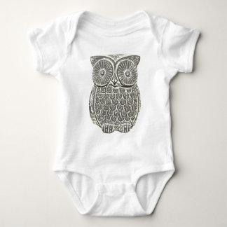 Cute wise grey owl babygro creeper