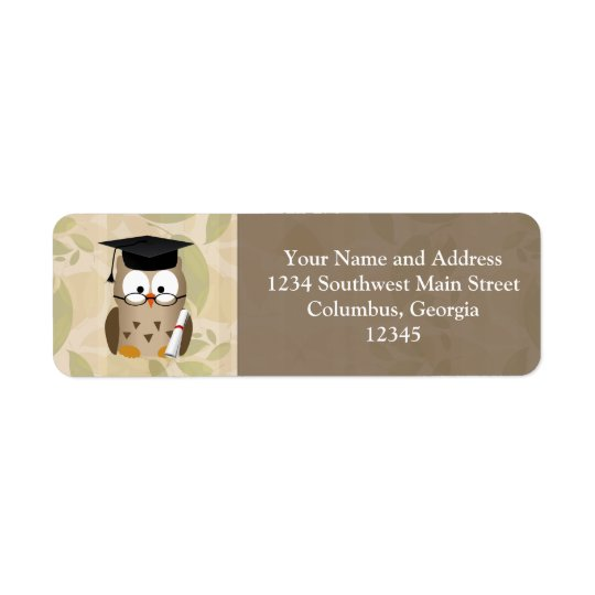 Cute Wise Owl Graduate