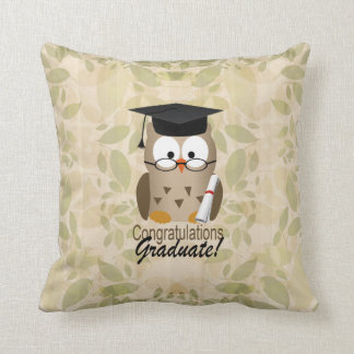 Cute Wise Owl Graduate Cushion