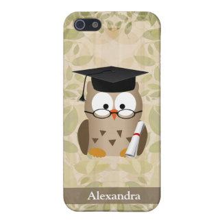 Cute Wise Owl Graduate iPhone 5/5S Case