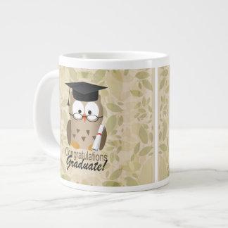 Cute Wise Owl Graduate Large Coffee Mug