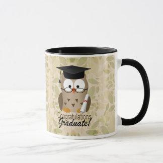 Cute Wise Owl Graduate Mug