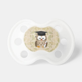 Cute Wise Owl Graduate Pacifiers