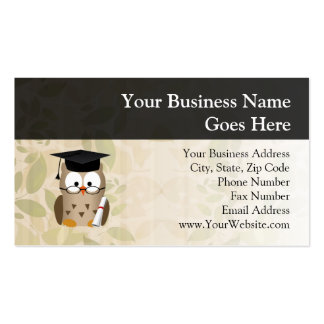Cute Wise Owl Graduate Pack Of Standard Business Cards