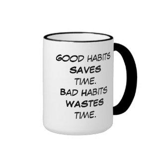 Cute Wise Owl on Habits Mug