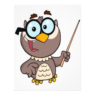 cute wise owl teaching teacher cartoon custom flyer