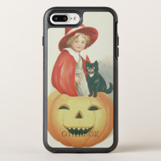 Cute Witch Black Cat Jack O Lantern OtterBox Symmetry iPhone 7 Plus Case