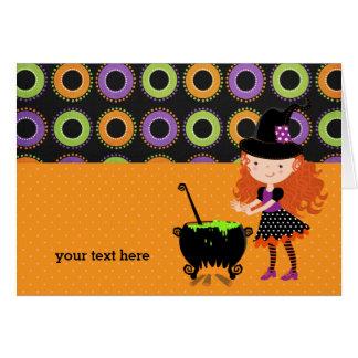 Cute witch card