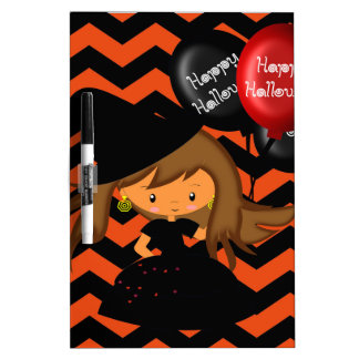 CUTE WITCH DRY ERASE BOARD