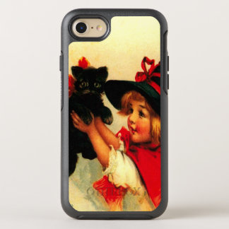 Cute Witch Girl Black Cat OtterBox Symmetry iPhone 8/7 Case