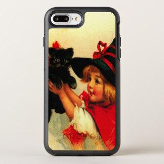 Cute Witch Girl Black Cat OtterBox Symmetry iPhone 8 Plus/7 Plus Case