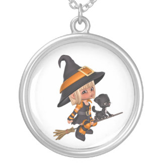 Cute Witch Halloween Necklace