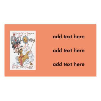 Cute Witch Jack O' Lantern Pumpkin Swing Pack Of Standard Business Cards