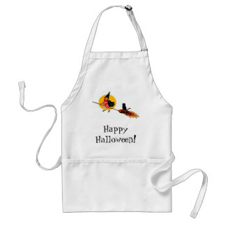 Cute Witch on Broom Standard Apron