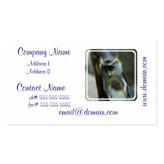 Cute Wolf's Monkey Pack Of Standard Business Cards