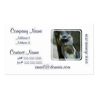 Cute Wolf's Monkey Business Card