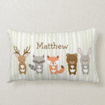 Cute Woodland Animals Personalised Pillow Cushion