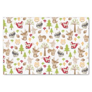Cute Woodland Animals Tissue Paper