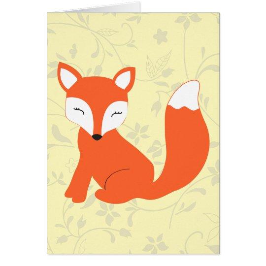 Cute Woodland Baby Fox Card