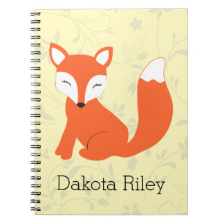 Cute Woodland Baby Fox Notebook