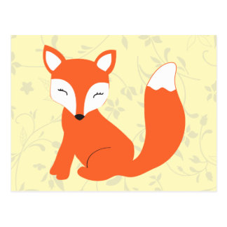 Cute Woodland Baby Fox Postcard