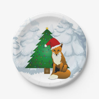 Cute Woodland Christmas Paper Plates 7 Inch Paper Plate