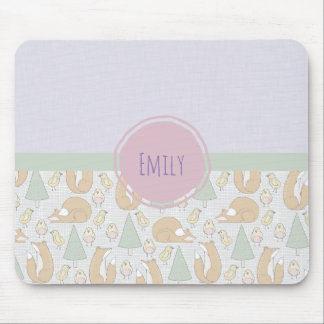 Cute Woodland Creatures Pattern Mouse Pad