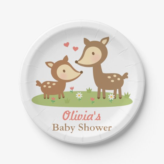 Cute Woodland Deer Baby Shower Party Supplies Paper