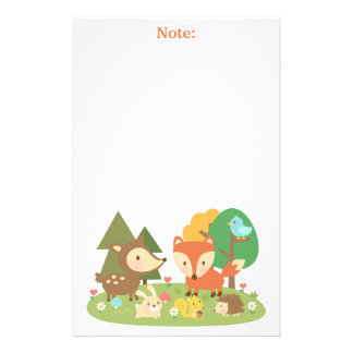 Cute Woodland Forest Animal For Kids Stationery