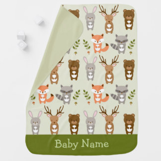 Cute Woodland Forest Animal Swaddle Blankets