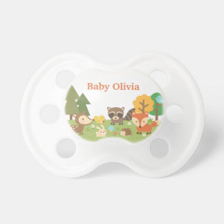 Cute Woodland Forest Animals For Babies Pacifiers