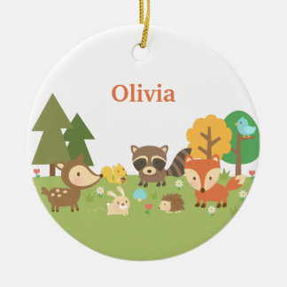 Cute Woodland Forest Animals Kids Room Decor Christmas Ornament