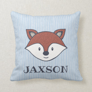 Cute Woodland Fox Name Pillow