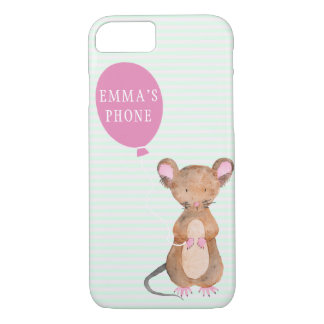 Cute Woodland Mouse Apple iPhone 7 Phone Case