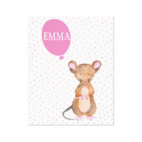 Woodland Mouse Canvas Print