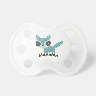 Cute Woodland Raccoon Personalized Baby Pacifier
