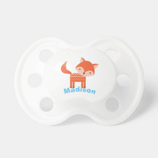 Cute Woodland Red Fox Personalised Baby Pacifier