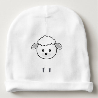 Cute Wooly Lamb Face Baby Beanie