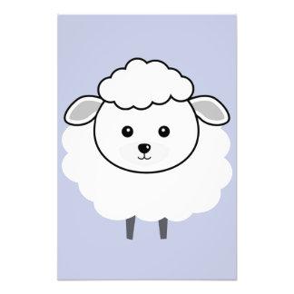 Cute Wooly Lamb Face Photo Print