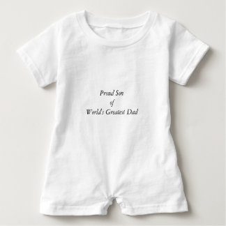 Cute World's Greatest Dad Elegant Typography Baby Bodysuit