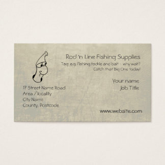 Cute Worm - Fishing Tackle Supplier template Business Card